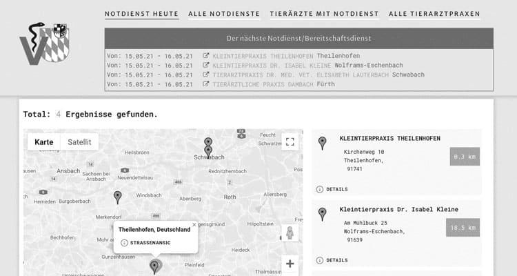 Notdienst Website